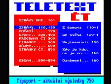Teletext ČT, Nova, Prima, Česká televize